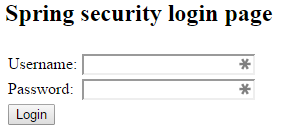 Spring Security Demo - Login Page
