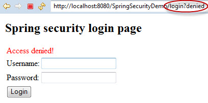 Spring Security Demo - Access Denied