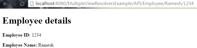 Multiple View Resolvers in Spring