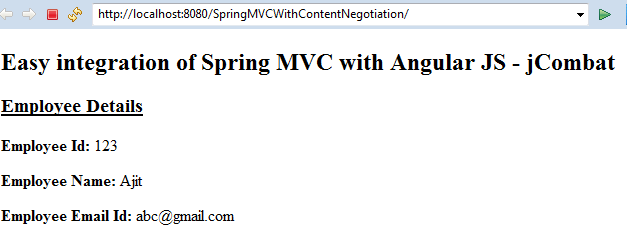 Easy integration of Spring MVC with Angular JS - jCombat
