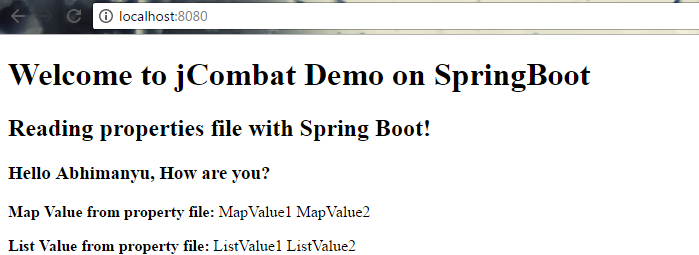 Spring Boot Property File Output